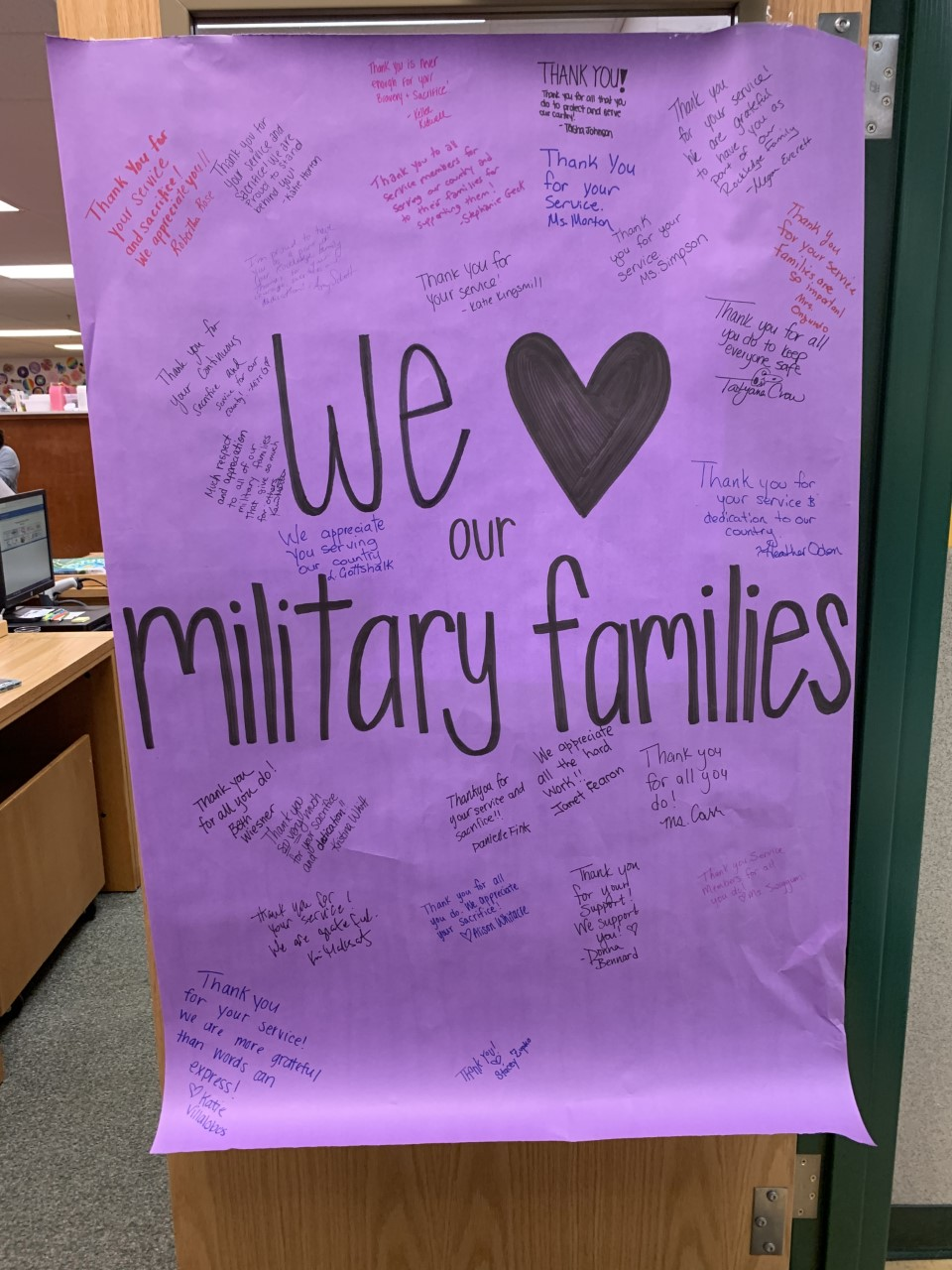 Military Family Appreciation Poster
